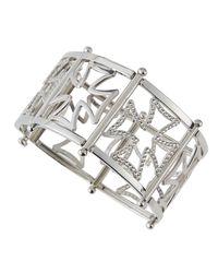 Elizabeth Showers | Metallic Maltese Silhouette Cuff Bracelet W/ Sapphires | Lyst