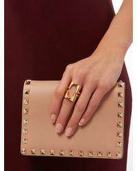 Diane von Furstenberg - Metallic Cut-out Ring - Lyst