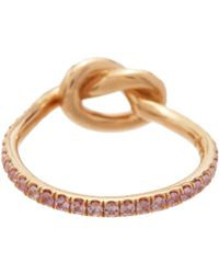 Finn | Pink Love Knot Ring Size Os | Lyst