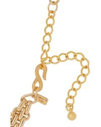 Kenneth Jay Lane | Metallic Gold Plated Multichain Necklace | Lyst