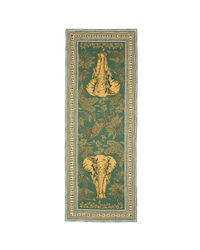 Valentino Multicolor Elephant Print Silk Scarf