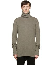 Nude:mm | Gray Taupe Wool Turtleneck for Men | Lyst