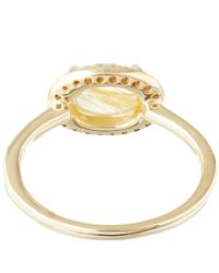 Anna Sheffield Metallic Gold Pavé Diamond Amulet Ring