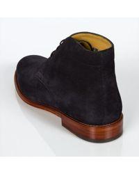 Paul Smith Blue Men's Navy Suede 'morgan' Desert Boots for men