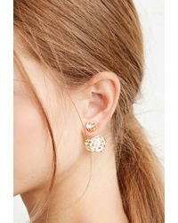 Forever 21 - Metallic Faux Gemstone Dual Studs - Lyst