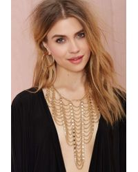 Nasty Gal Metallic Climb The Ladder Chain Necklace