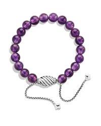 David Yurman - Metallic Spiritual Beads Bracelet With Amethyst - Lyst