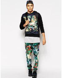 Criminal Damage - Black Sweatshirt With Floral Box Logo for Men - Lyst