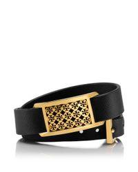 Tory Burch - Black Kinsley Double Wrap Bracelet - Lyst