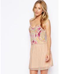 ASOS - Pink Premium Deco Embellished Cami - Lyst