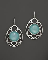 Ippolita - Blue Sterling Silver Wonderland Cutout Teardrop Lattice Earrings In Aqua Doublet - Lyst