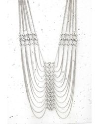 Forever 21 | Metallic Stud Draped Chain Necklace | Lyst