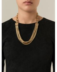 Lanvin - Metallic 'matinee' Necklace - Lyst