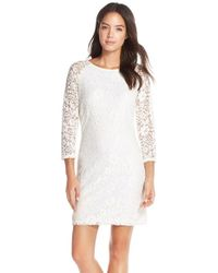 Laundry by Shelli Segal | Multicolor Fitted Lace Sheath Dress  | Lyst