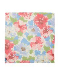Ralph Lauren - Blue Lauren Marta Floral Square Scarf - Lyst