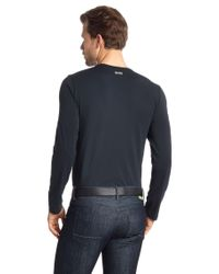 BOSS Green Blue Long-Sleeve Shirt 'Togn Us' for men