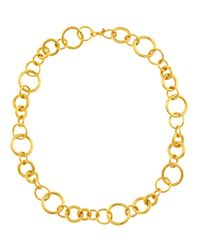 Gurhan | Metallic Hoopla Collection 24K Gold Chain Necklace | Lyst