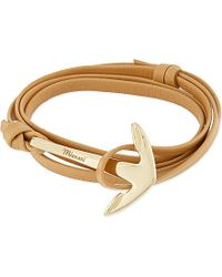Miansai | Metallic Leathe Gold-Anchor Bracelet - For Men | Lyst