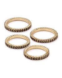 Aqua | Metallic Mini Link Rings, Set Of 4 | Lyst