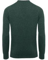 Jules B - Green V-neck Lambswool Sweater for Men - Lyst