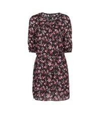 Mango | Black Floral Dress | Lyst