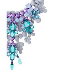 EK Thongprasert | Blue Arabesque Crystal And Silicone Necklace | Lyst