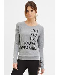 Forever 21 | Gray Active Live Life Graphic Tee | Lyst
