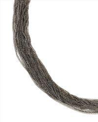 Jaeger - Metallic Delicate Row Necklace - Lyst