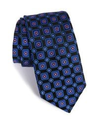 Ted Baker | Blue '60s Squares' Silk Tie for Men | Lyst