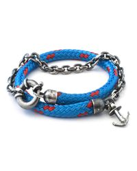 Anchor & Crew | All Blue Barmouth Rope Bracelet for Men | Lyst