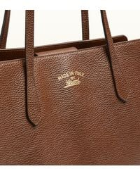 Gucci Brown Swing Medium Leather Tote