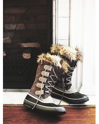 Free People | Gray Joan Of Arctic Weather Boot | Lyst