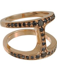 Hoorsenbuhs | Metallic Rose Gold Black Diamond Phantom Ring | Lyst