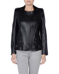 Balmain | Black Printed Leather Jacket | Lyst