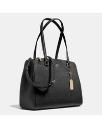 COACH - Black Stanton Carryall In Crossgrain Leather - Lyst