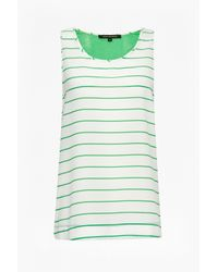 French Connection - Green Polly Plains Stripe Vest - Lyst