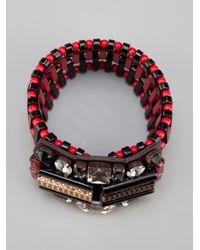 Marni - Red Embellished Cuff - Lyst