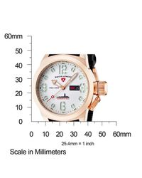 Swiss Legend - Submersible Black Silicone White Dial Rose-tone Case for Men - Lyst