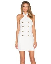 Endless Rose White Marquis Stretch-Jersey Dress
