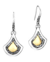 John Hardy | Metallic Naga Gold & Silver Drop Earrings | Lyst