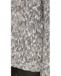 VINCE | Gray Drop Shoulder Sweater | Lyst