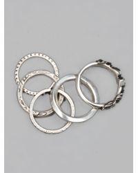 Werkstatt:münchen | Metallic Stacked Rings for Men | Lyst