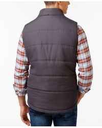 Weatherproof | Black Vintage Full-zip Puffer Vest for Men | Lyst