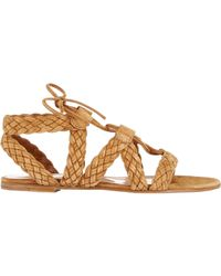 Gianvito Rossi - Natural Braided Gladiator Sandals - Lyst