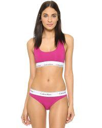 Calvin Klein Modern Cotton Thong - Pink Desire