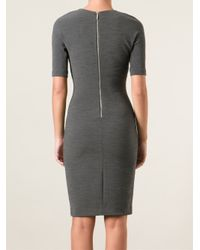 MICHAEL Michael Kors - Gray Classic Pencil Dress - Lyst