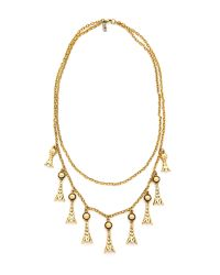 Vanessa Mooney | Metallic The Holloway Necklace - Gold | Lyst