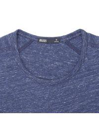 Onassis Clothing | Blue Split Sleeve Slub Crew Neck for Men | Lyst