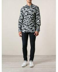 Paul Smith | Blue - Floral Print Shirt - Men - Cotton - 16 for Men | Lyst