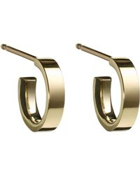 Finn - Yellow Gold Huggie Hoop Earrings - Lyst